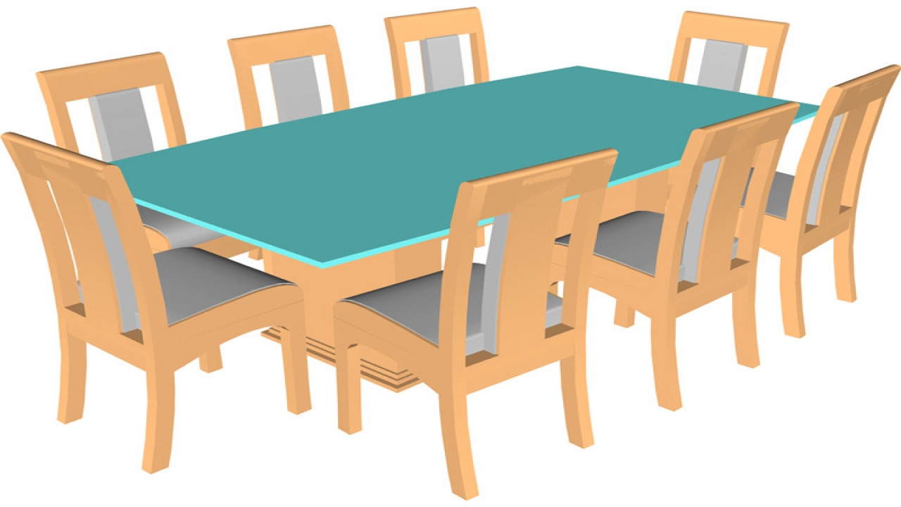 Cartoon Dining Table And Chairs - Dining room ideas