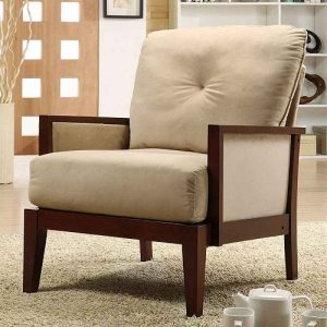 a chair in a room oxford creek velvet accent brown living room chairs
