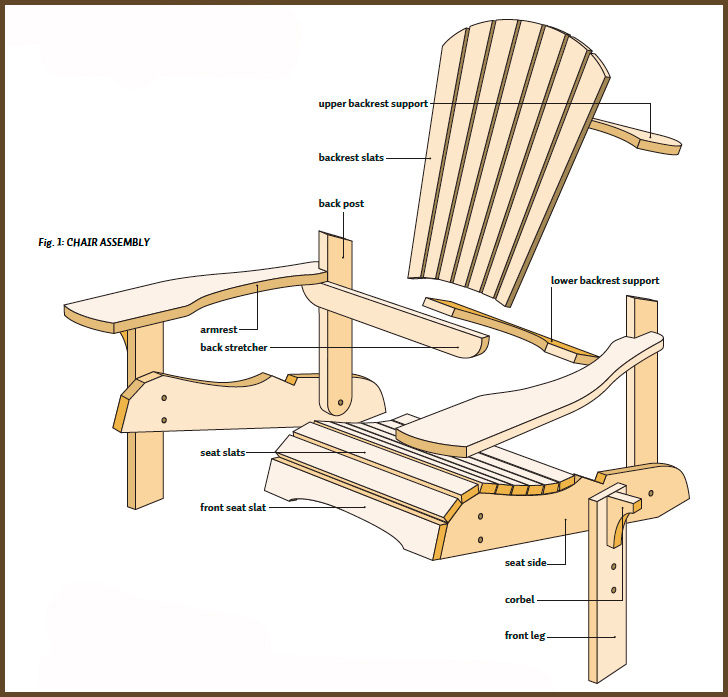 graphic regarding Printable Adirondack Chair Plans identify Adirondack Chair Courses Pdf