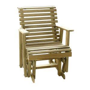 adirondack glider chair luxcraft wood plainglider ft