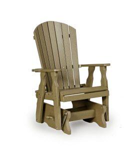adirondack glider chair pid amish poly wood fan back single patio glider chair