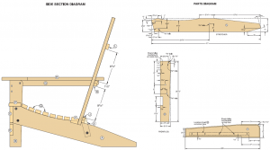 adirondack rocking chair plans folding adirondack chair diagram