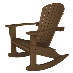adirondack rocking chair polywood seashell adirondack rocking chair