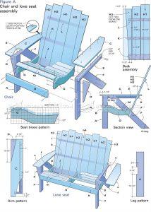 adirondak chair pattern adirondack love seat plans