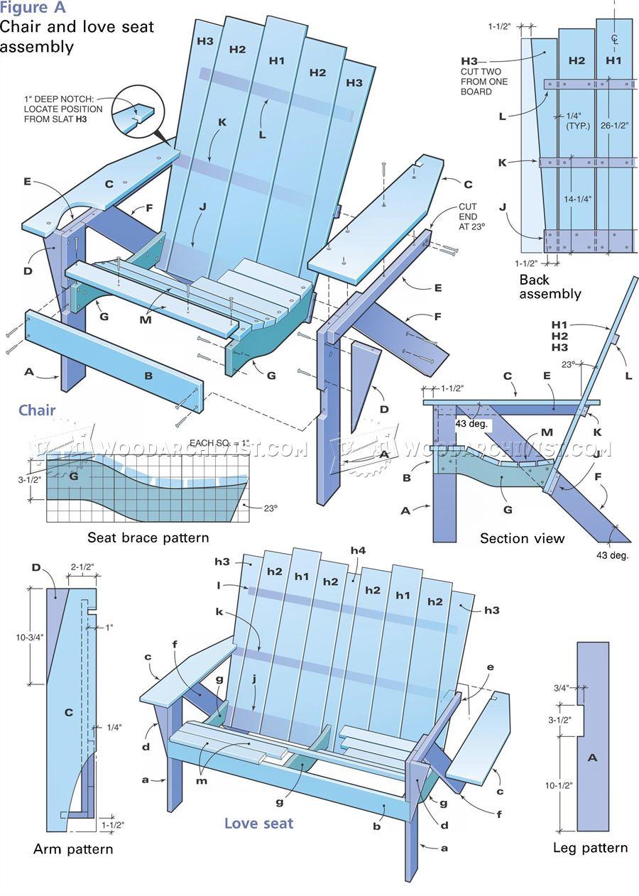 adirondak chair pattern