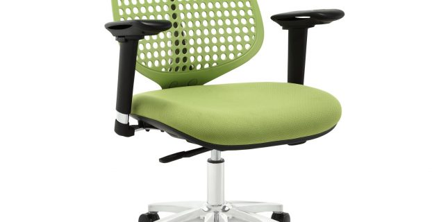 adjustable office chair modway reverb adjustable armrests office chair in green