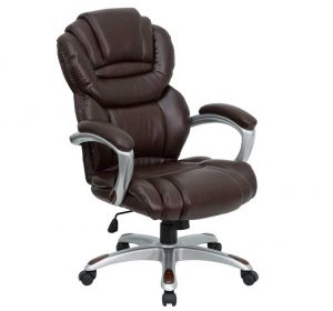 aeron chair headrest comfortable swivel brown leather desk chair with dual wheel caster plus tilt lock mechanism and built in lumbar support and integrated headrest