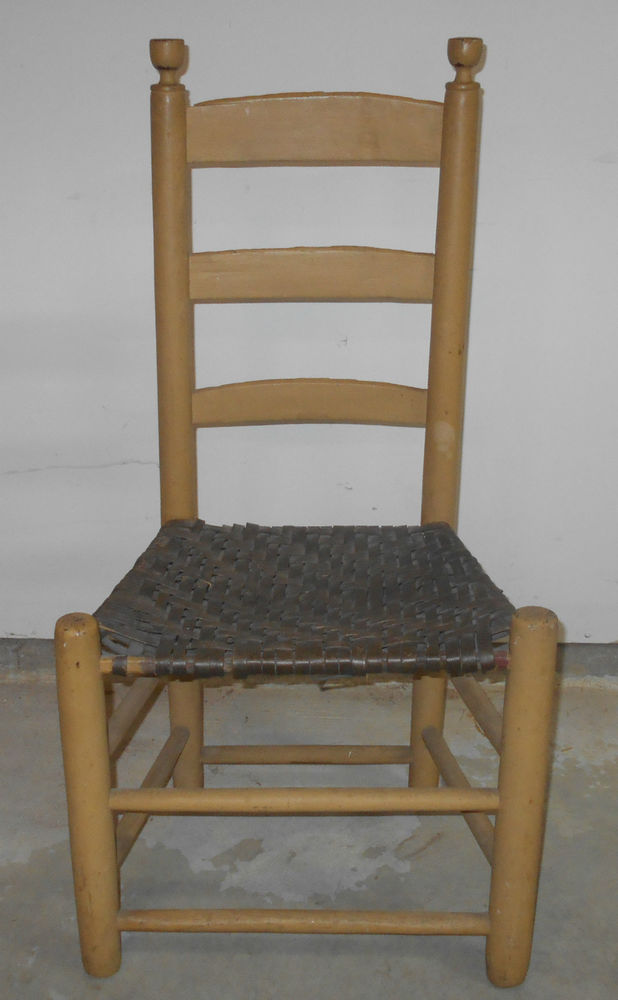 antique ladderback chair