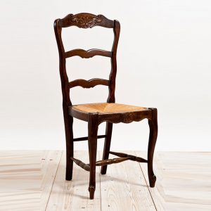 antique ladderback chair sea