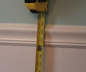 average chair height chair rail
