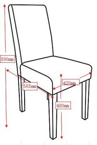 average chair height dimensions x