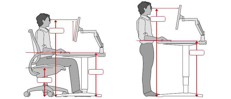average chair height