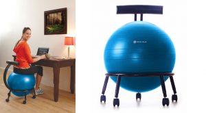 balance ball office chair gaiam balance ball chair