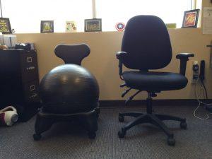 balance ball office chair left balanceball chair right regular chair image dakster sullivan