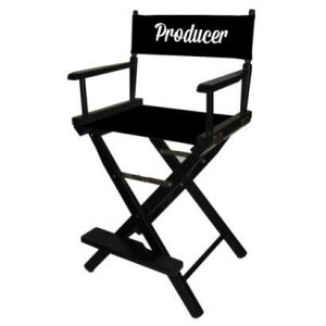 bar height directors chair producer