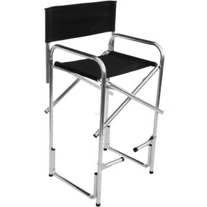 bar height directors chair us made bar height aluminum director chair with full color digital imprint