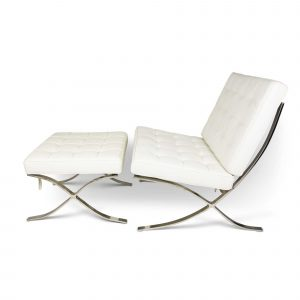 barcelona chair replica barceolona stool white