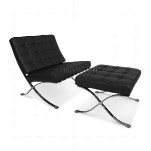 barcelona chair replica mies ven der rohe barcelonachair and ottoman black x