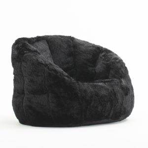 bean bag chair ikea bj milano black fur quarter no model