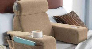 bed chair pillow bed rest pillow with cup holder l cedebdbecefd