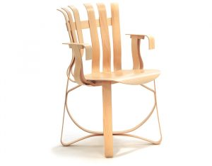 bent wood chair gehry hat trick chair frank gehry knoll