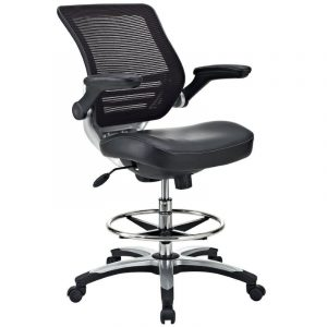 best drafting chair lexmod edge mesh drafting stool in black