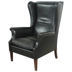 black leather chair z