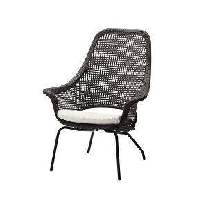 black modern chair modern rattan outdoor chair