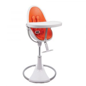 bloom fresco high chair bloom fresco chrome highchair white harvest orange leatherette tray