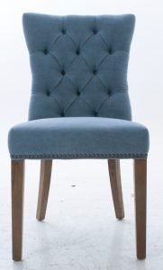 blue dining chair comfortable blue upholstered dining room chair