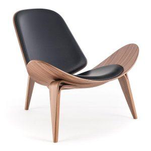 blue leather chair carl hansen ch zoom
