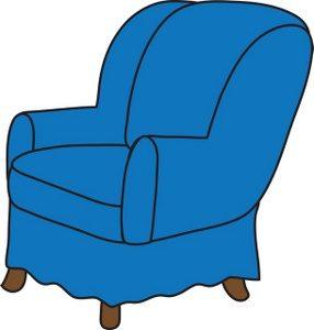 blue rocking chair clip art illustration of a blue arm chair smu