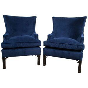 blue velvet chair z