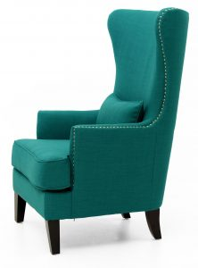 blue wingback chair teal chair frs