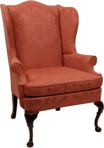 blue wingback chair chair