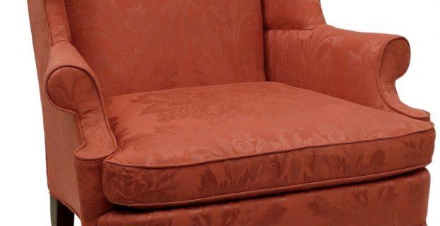 blue wingback chair chair