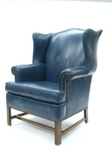 blue wingback chair ethan allen leather wing chair leather sofas ethan allen eade