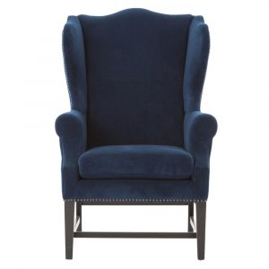 blue wingback chair product