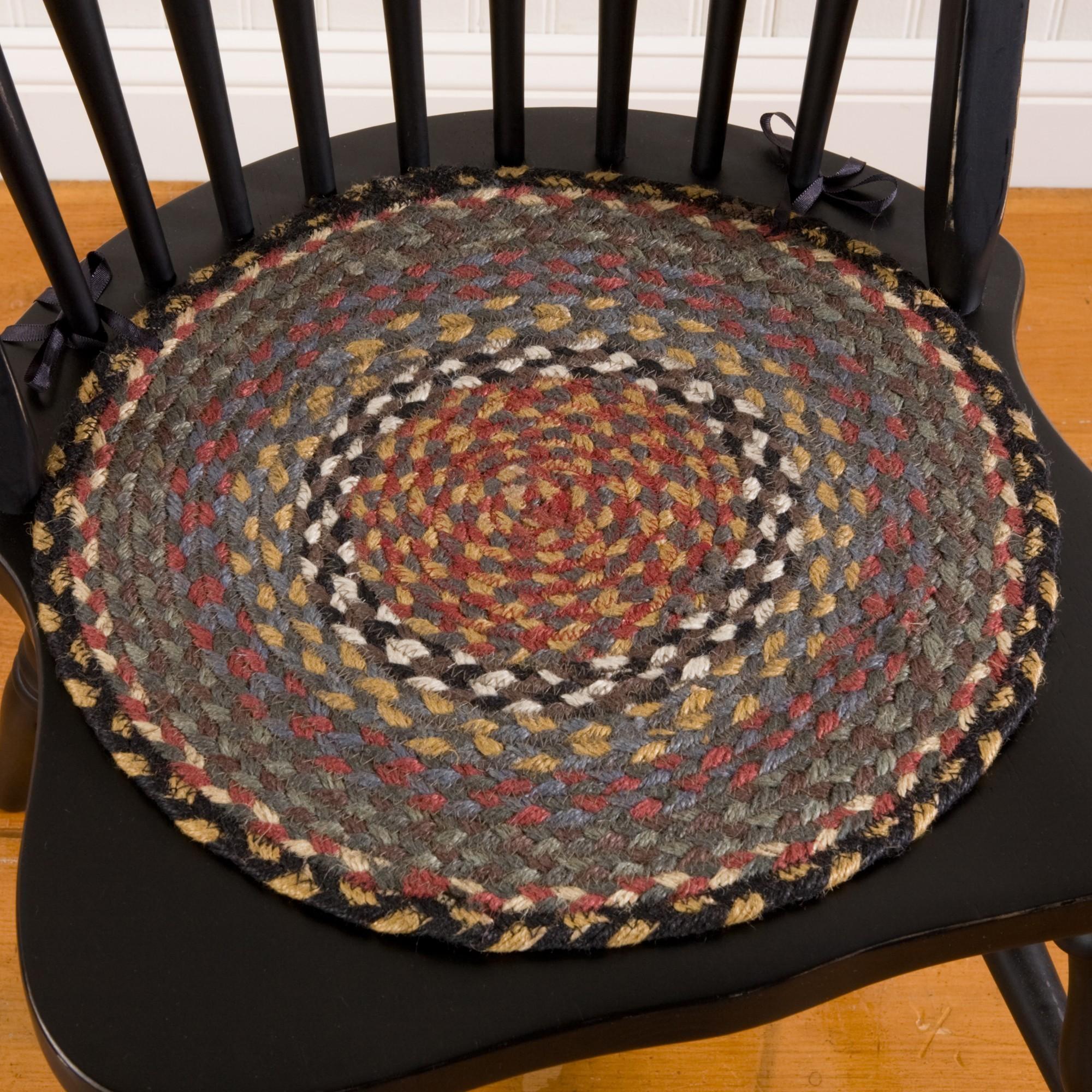 braided chair pads
