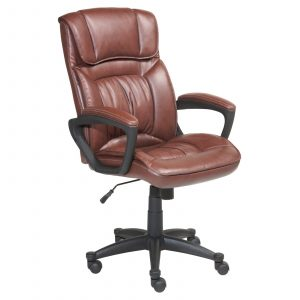 brown leather office chair master:mill
