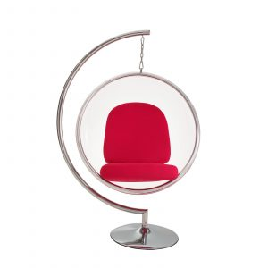 bubble chair with stand eei red