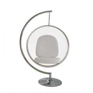 bubble chair with stand eei whi