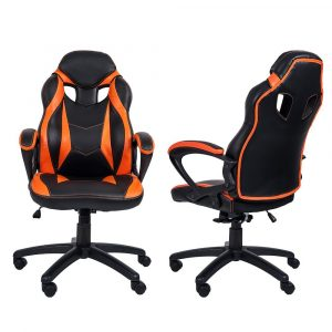 budget gaming chair merax racing style gaming chair orange