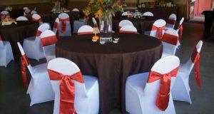 burnt orange chair brown orange full guest table