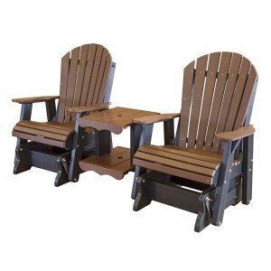 butterfly chair frame amish made patio double glider settee poly furniture lcc front right