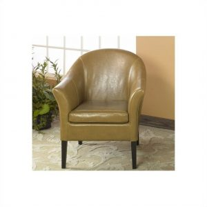 camel leather chair l