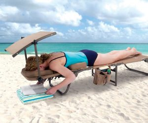 canopied beach chair ergonomic beach lounger with removable shade tae