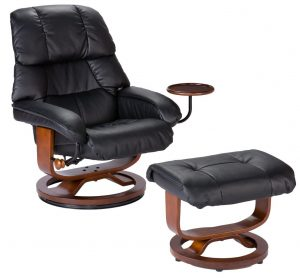 chair and a half recliner leather southern enterprises high back leather recliner and ottoman black e