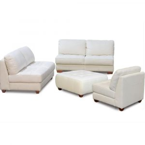 chair and ottoman set diamond sofa zen collection armless all leather tufted seat sofa loveseat chair and ottoman zenslcow