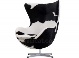 chair and ottoman set egg chair arne jacobsen cowhide platinum replica